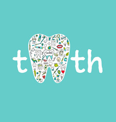 Dental clinic concept sketch for your design vector