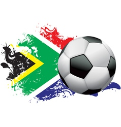 South africa soccer grunge vector