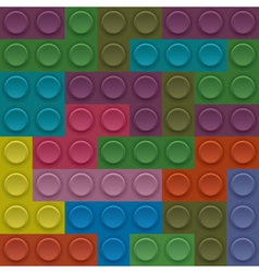 Colorful lego block vector