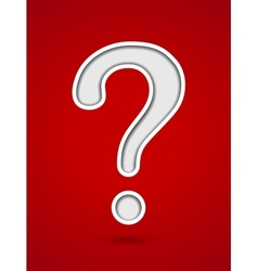 Cut out hole question mark on red background vector