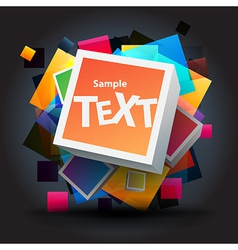 Square background vector image