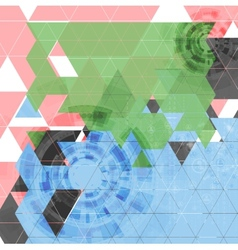 Abstract tech triangles background vector image