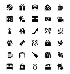 Wedding icons 2 vector