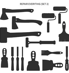 Set of repair tools vector