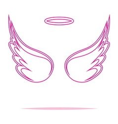 Angel wings icon outline2 vector