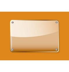 glass name plate vector image