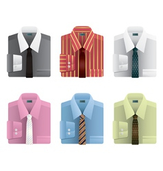 Shirts and ties vector