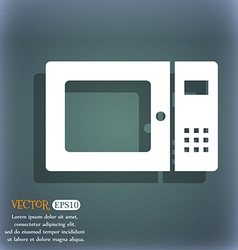 Microwave icon on the blue-green abstract vector