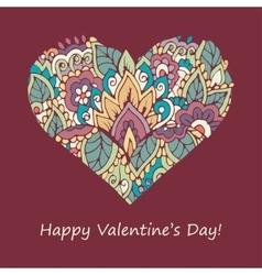 Happy valentines day congratulations card vector