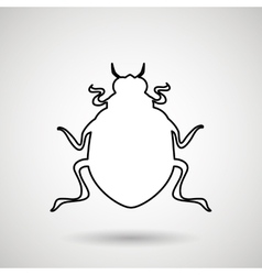 Beetle silhouette design vector
