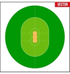 Cricket field vector