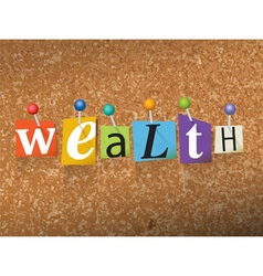 Wealth concept vector