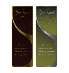Wine labels liqueur label vector