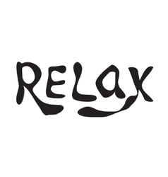 Relax hand drawn lettering vector