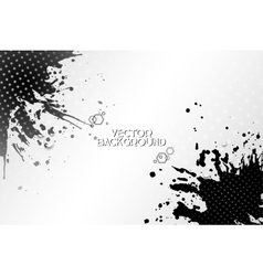Abstract hand drawn spotted black background with vector
