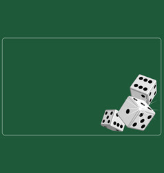 background dice gambling green vector image vector image