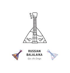 balalaika icon russian stringed musical instrument vector image vector image
