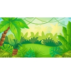 Cartoon jungle game background vector