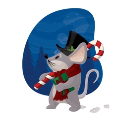 Christmas Mouse vector image vector image