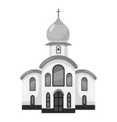 Church icon gray monochrome style vector