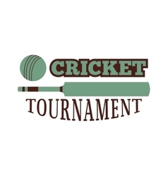 Cricket badge vector