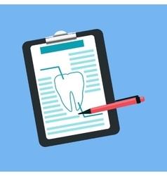 Dental Tablet Treatment Design Flat vector image