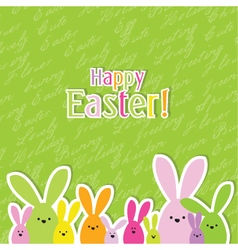 Easter card with copy space vector image vector image
