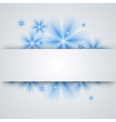 flowers on a paper background vector image vector image