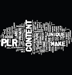 Fresh content with plr articles in minutes text vector