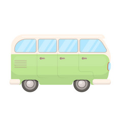 green bushippy single icon in cartoon style vector image