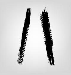 Grunge tire glyphs vector