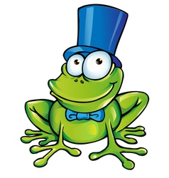 happy frog party vector image vector image