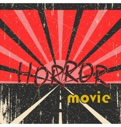 Horror movie vintage poster vector image vector image
