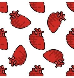 Human organs flat pattern vector