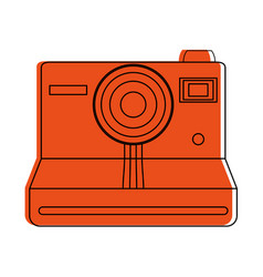 instant film photographic camera icon image vector image vector image