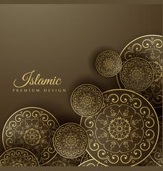 islamic background with mandala decoration vector image