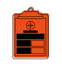 Medical history on clipboard healthcare icon image vector