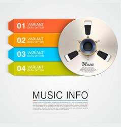 metal music bobine vector image vector image