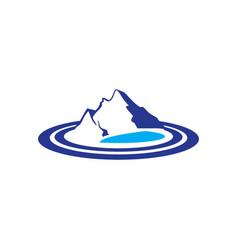 Mountains lake logo image vector