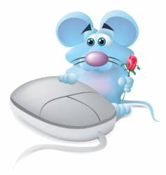 mouse in love vector image