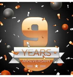 Nine years anniversary celebration background with vector