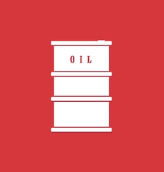 oil barrel white vector image