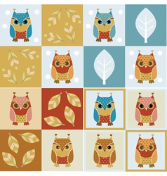 Owl seamless background vector image