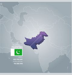 pakistan information map vector image vector image