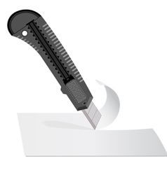 Plastic knife vector