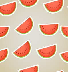 Red water melon slices seamless background vector image