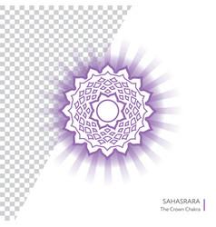 Sahasrara - crown chakra of human body vector