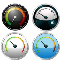 Sets of meter gauges vector