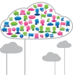 Social media clouds vector image vector image