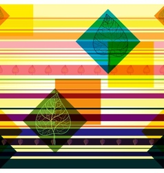 Strip pattern with colored autumn leaves bright vector image vector image